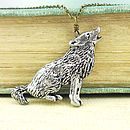 Wild Wolf Necklace Pendant Pewter