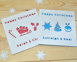 Pack Of Laser Cut Christmas Cards - seasonal cards
