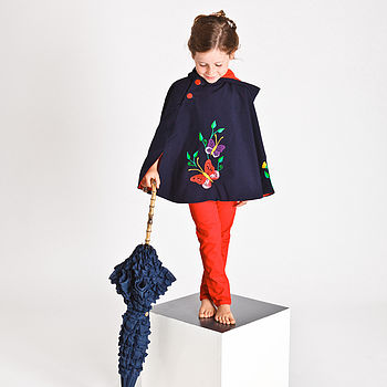Hand Embroidered Butterfly Cape