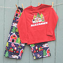 Santas Farm Personalised Long Sleeved Pyjama