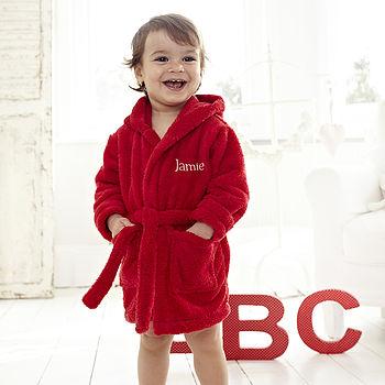Red Fleece Baby Robe