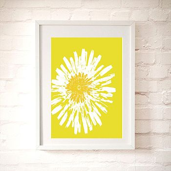 Yellow Dandelion Flower Fine Art Print