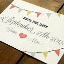 Vintage Bunting Wedding Save The Date Card