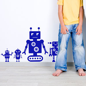 Robot Pack Wall Stickers - baby's room
