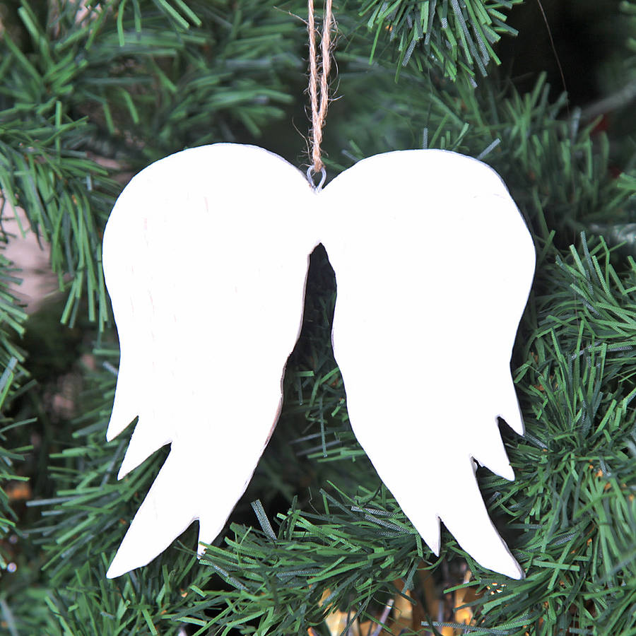 Christmas angel wings tree decoration by red berry apple for Angel christmas tree decoration