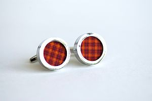 Red And Orange Stripes On Cufflinks