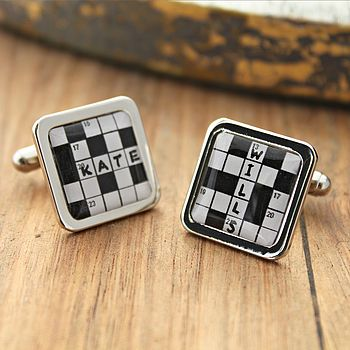 Personalised Crossword Cufflinks