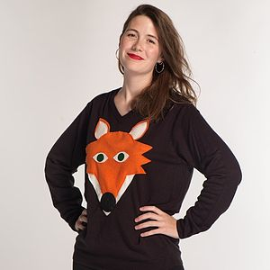 Squeaky Nose Fox Jumper - jumpers