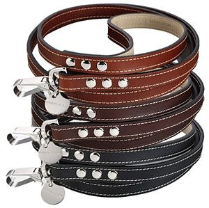 Royal Hand Made Leather Dog Lead - dogs