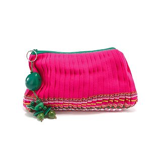 Pleated 'Skirt' Purse - make-up & wash bags