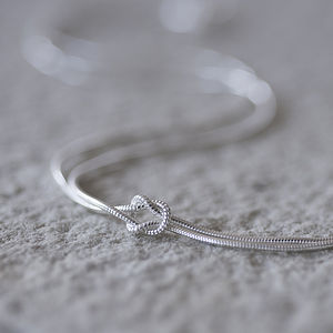 'Tying The Knot' Sterling Silver Necklace