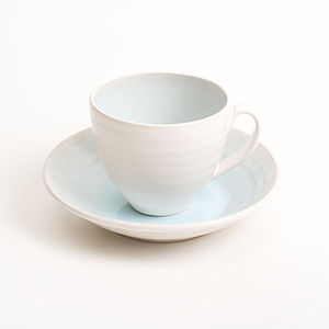 Cafe Stoneware Cup And Saucer