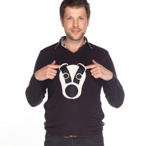 Squeaky Nose Badger Jumper - jumpers & cardigans
