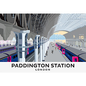 Paddington Station London Print - cityscapes & urban art
