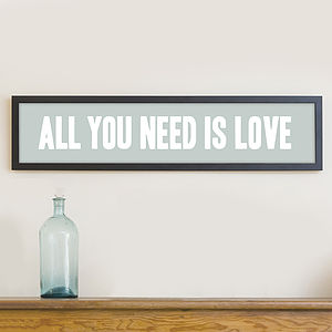 'All You Need Is Love' Print - posters & prints