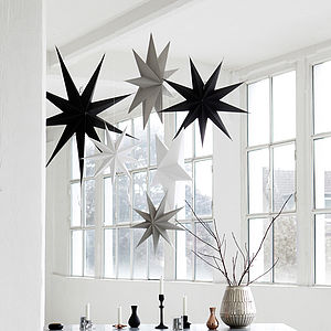 Large Paper Star Decoration - arctic christmas