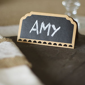Set Of 10 Blackboard Place Cards - table decorations
