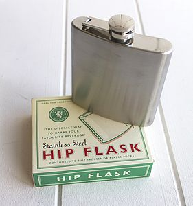 Vintage Style Hip Flask - wines, beers & spirits