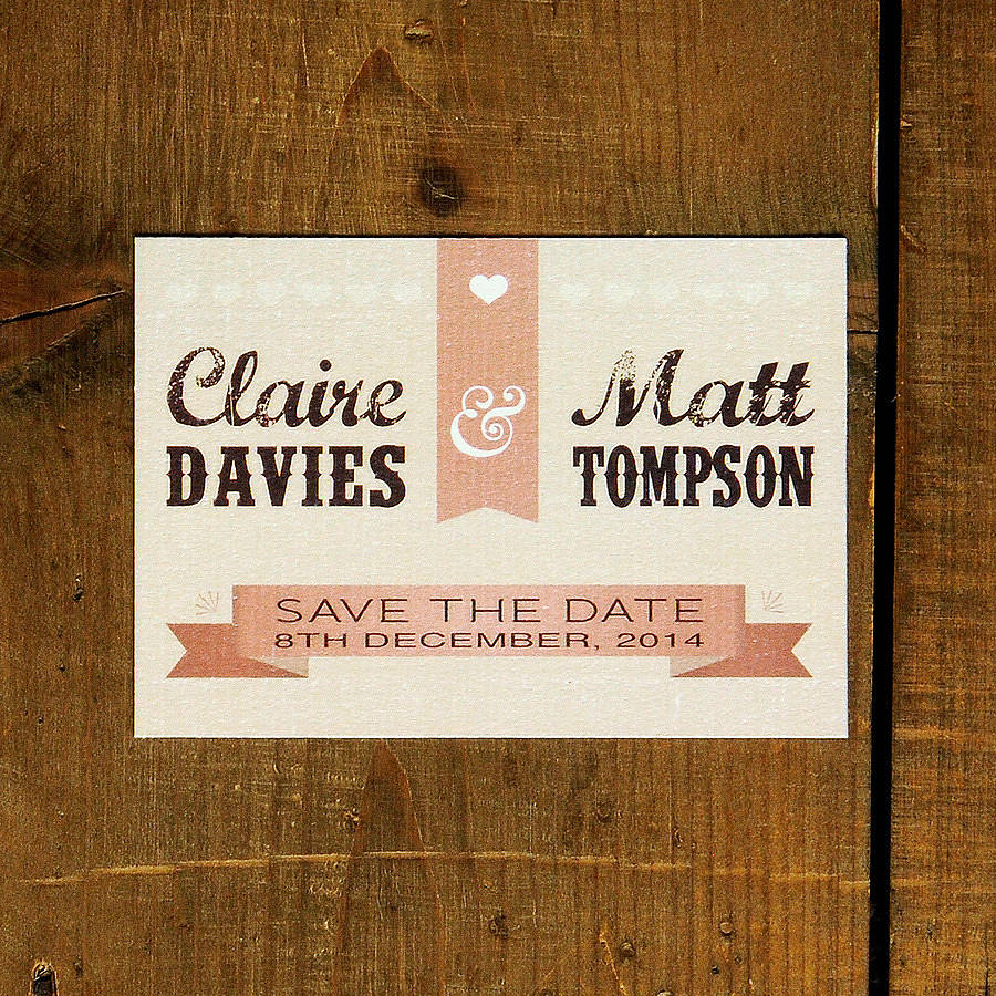 Vintage Poster Wedding Save The Date Card Or Magnet