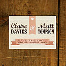 Vintage Poster Wedding Save The Date Card