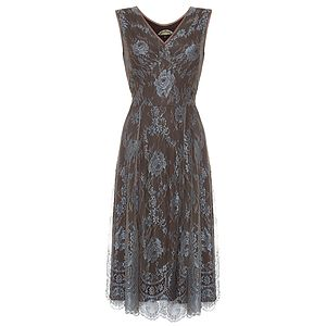 Kristen Dress In Winter Blue Lace