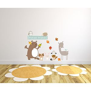 Forest Friends Fabric Wall Stickers - wall stickers