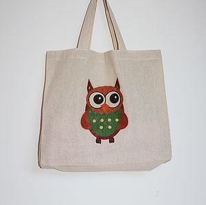 Owl Canvas Bag - bags, purses & wallets