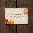 Vintage Floral Postcard Save The Date Card
