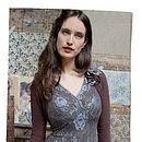 Kristen Dress In Winter Blue Lace