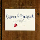 Hand Lettered Wedding Save The Date Card