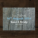 Driftwood Save The Date Card Or Magnet