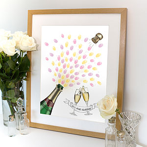 Champagne Celebration Fingerprint Artwork