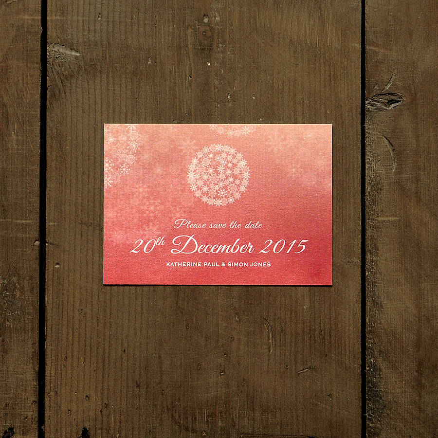 winter wonderland save the date card or magnet by feel good wedding ...