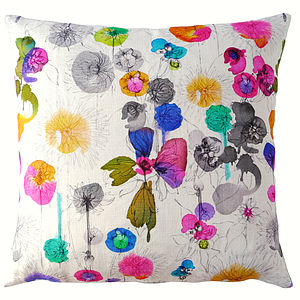 Dahlia Cushion Cover - fresh floral homeware