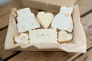 Personalised Bride And Groom Wedding Cookies - engagement gifts