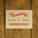 Vintage Country Kraft Save The Date Card Or Magnet
