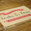 Vintage Country Kraft Save The Date Card
