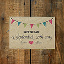 Vintage Bunting Kraft Save The Date Card