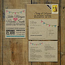 Vintage Bunting Kraft Invitation Suite also available