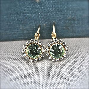 Swarovski Round Drop Earrings - earrings