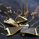 24k Gold Dipped Druzy Triangle Necklace