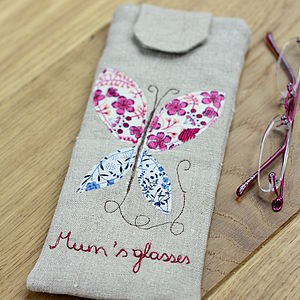 Personalised Glasses Case Butterfly - bags & purses