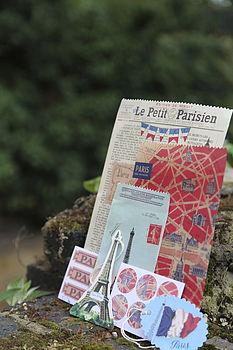 Vintage Paris Gift Bag Set
