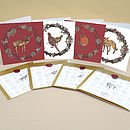 Set Of Wax Sealed Christmas Cards