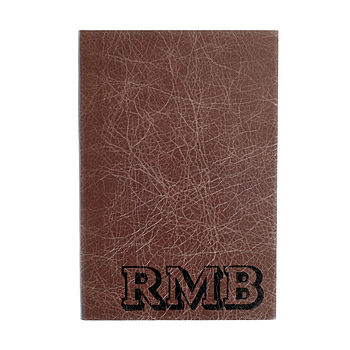 Personalised Varsity Leather Notebook