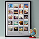 20 images - 23mm black frame - light grey background