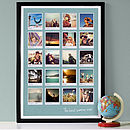 sea blue background - 20 images - black frame