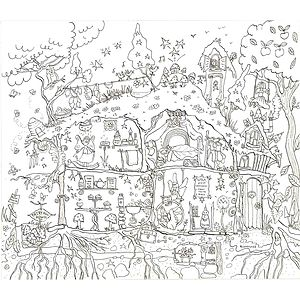 Fairy House Colouring In Poster - baby & child sale