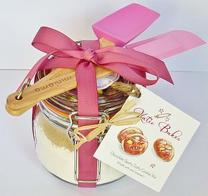 Mini Pink Baking Mix Gift Set With Baking Mix Jar - gifts for bakers