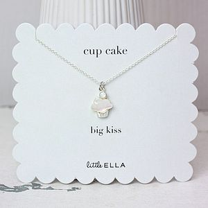 Cupcake Mother Of Pearl Girls Necklace - necklaces & pendants